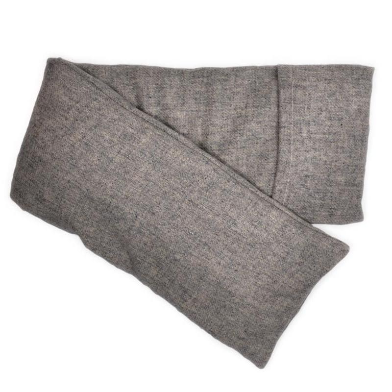 Heather Gray Cashmere Hot/Cold Neck and Back Wrap