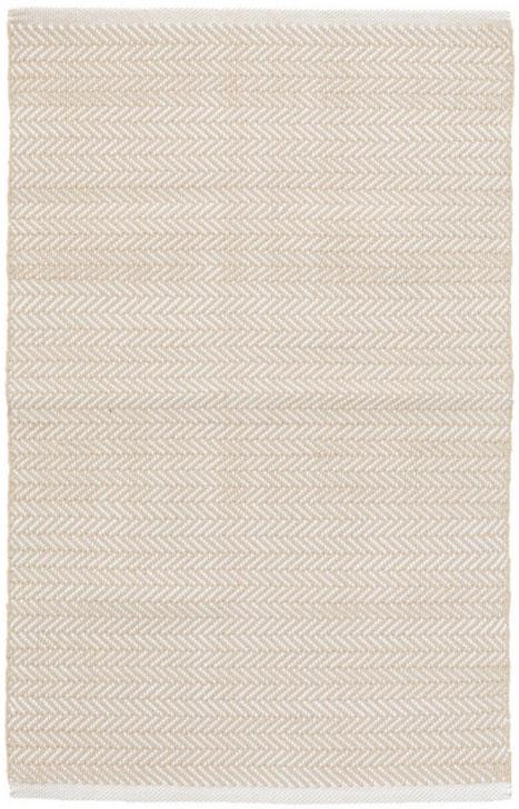 Dash & Albert Herringbone Linen & White Indoor/ Outdoor Rug