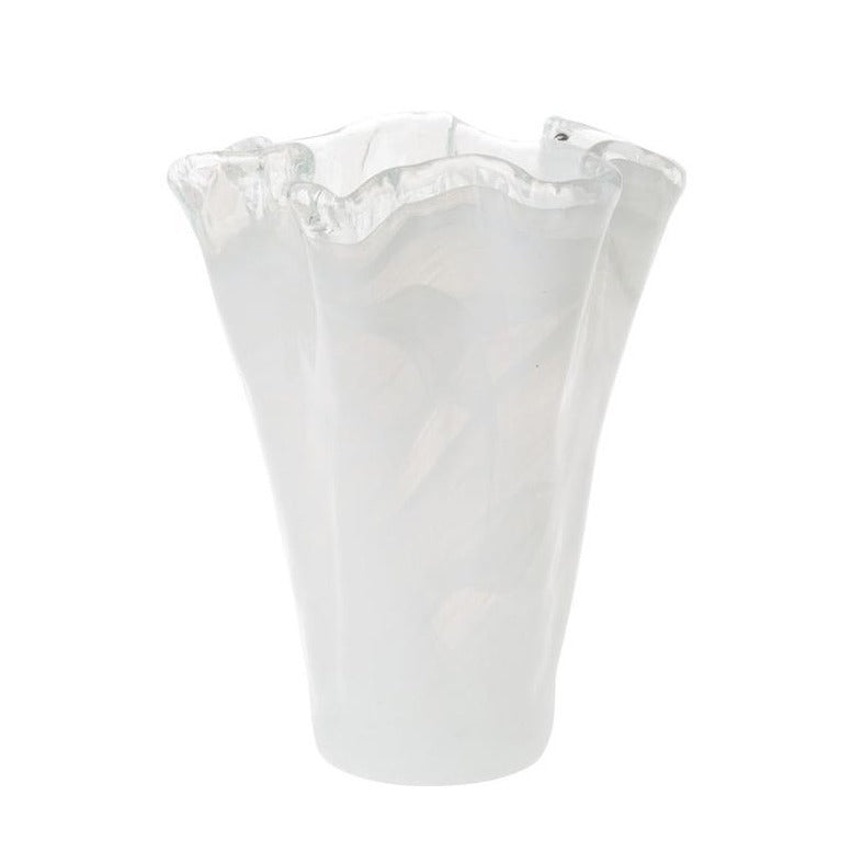 VIETRI Medium Onda Glass Vase