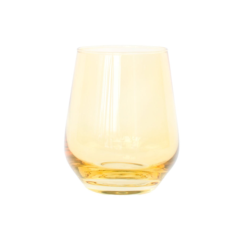 Estelle Yellow Stemless Wine Glasses