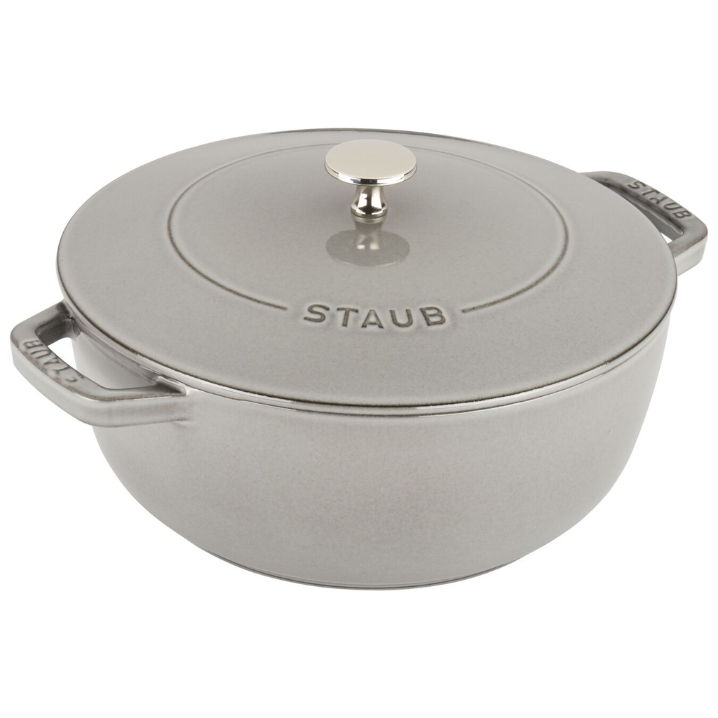 STAUB Cast Iron 3.75QT Essential French Oven, Graphite