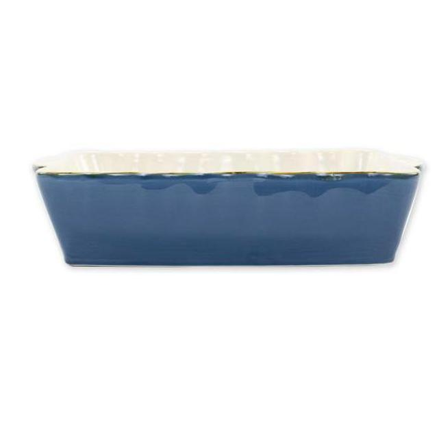 VIETRI Blue Rectangular Italian Baker, Large