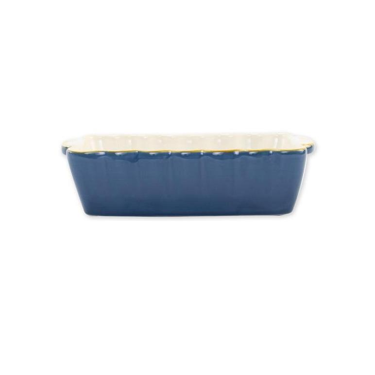 VIETRI Blue Rectangular Italian Baker, Small
