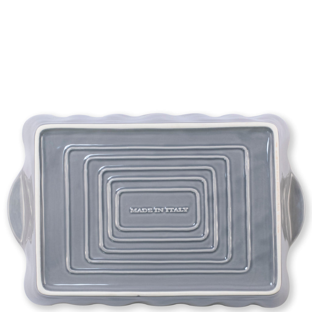 VIETRI Grey Rectangular Italian Baker, Small