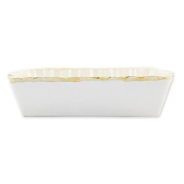 White Rectangular Italian Baker, Large