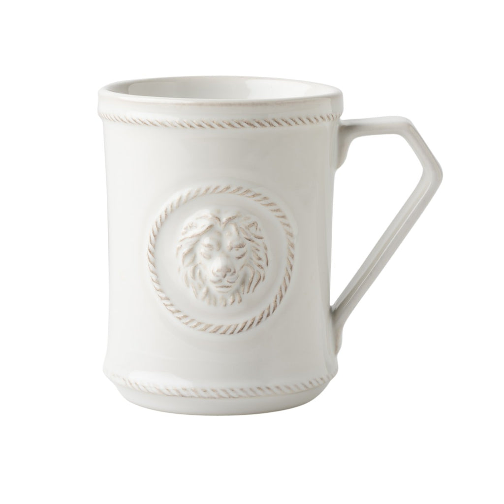 Juliska Berry & Thread Whitewash Cupfull of Courage Mug, White