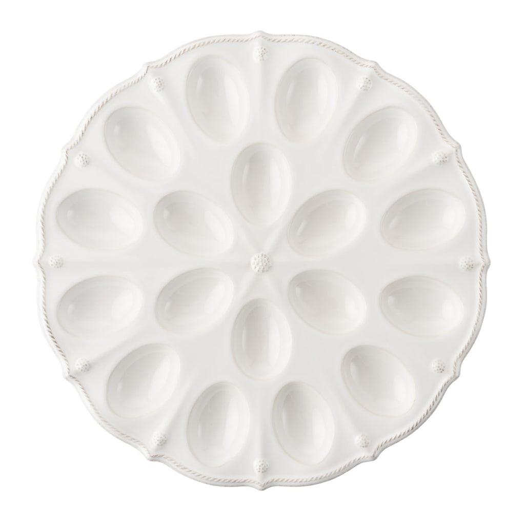 Juliska Berry & Thread Deviled Egg Platter, White