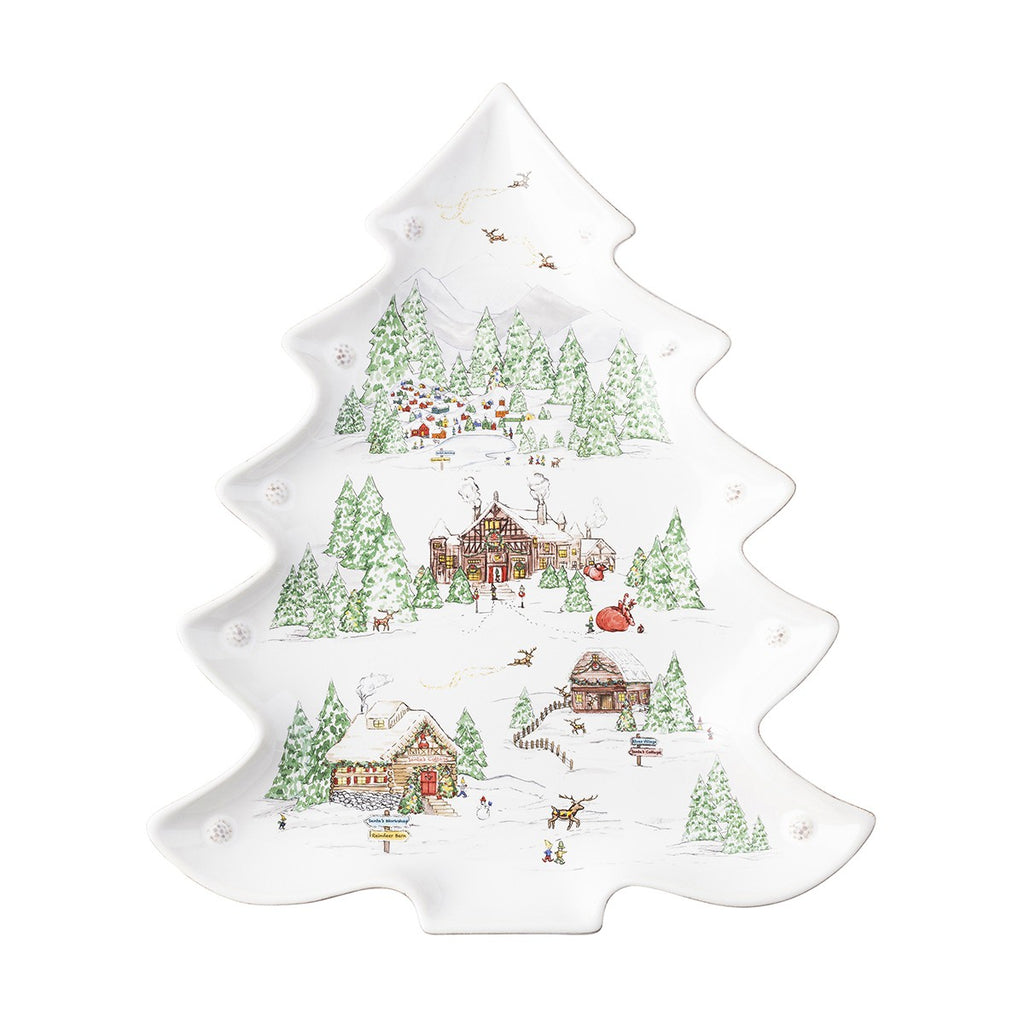 Juliska Berry & Thread North Pole Tree Platter