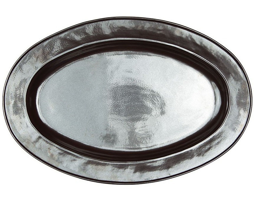"Juliska Pewter Large Oval Platter, 22""L"