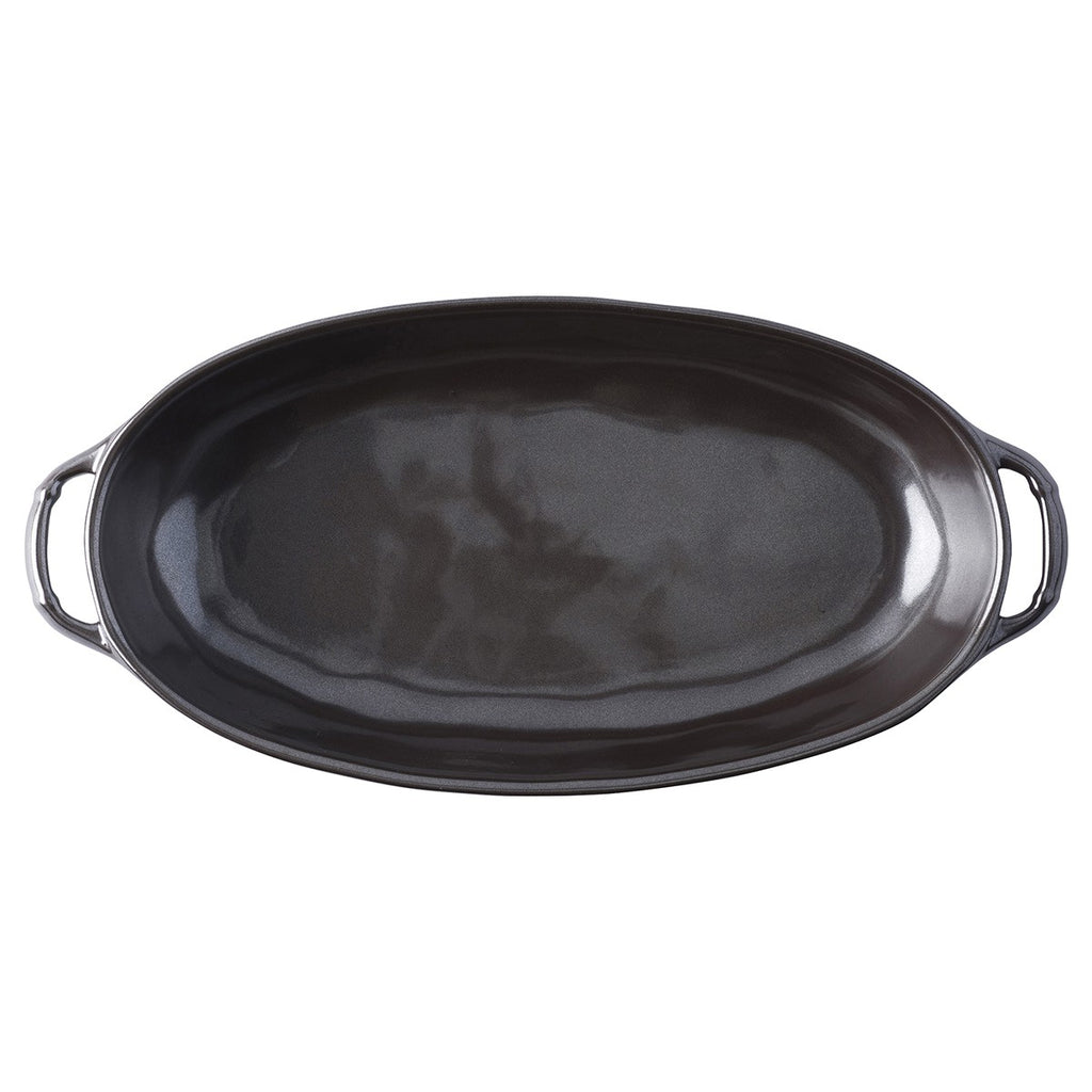 Juliska Pewter Medium Shallow Baker