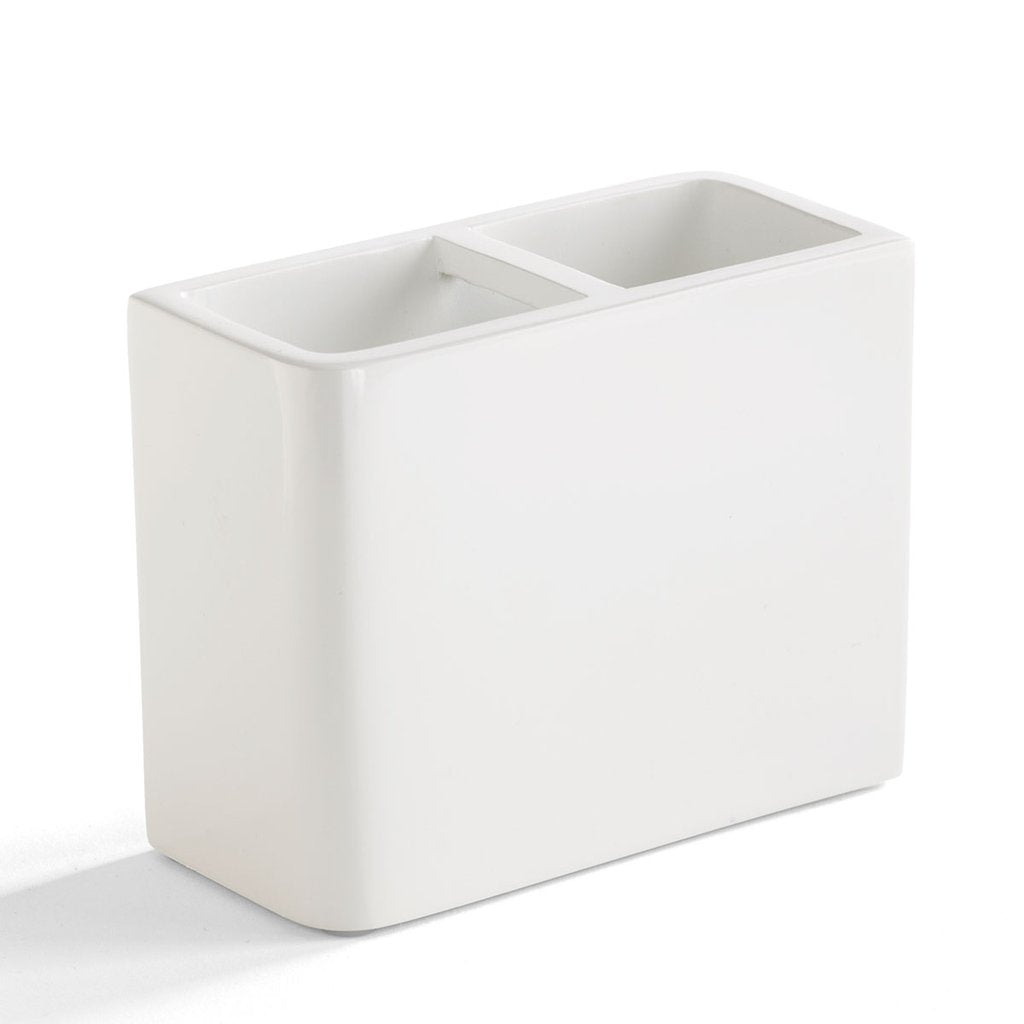Lacca White Toothbrush Holder