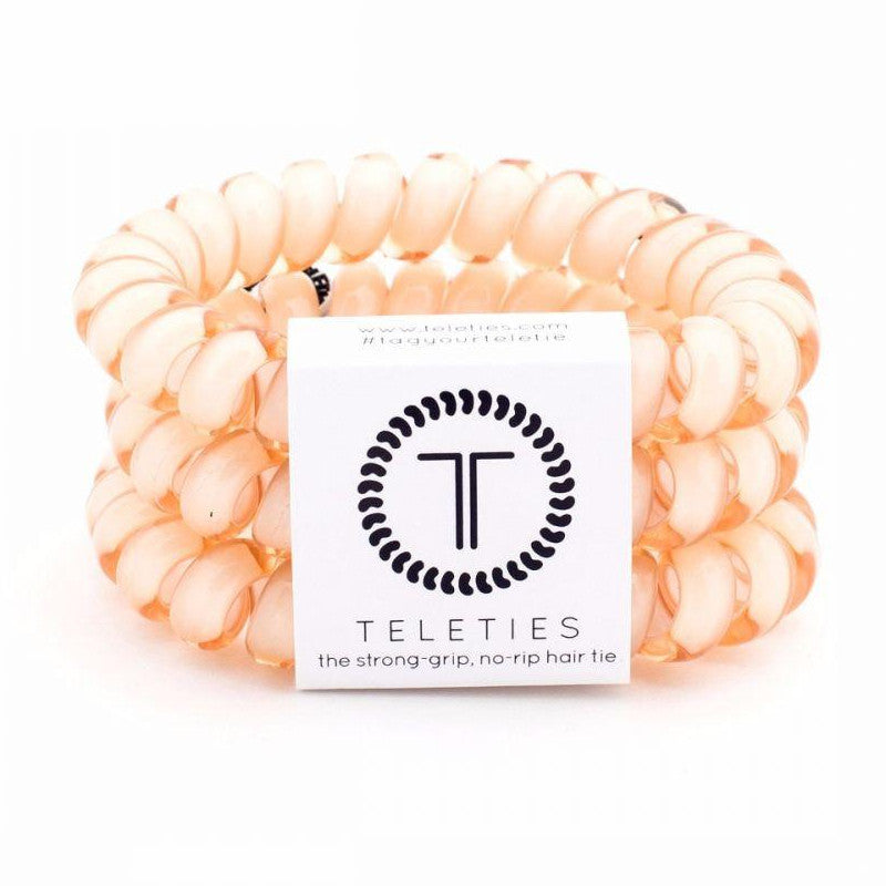 Large Teleties Hairbands Almond Beige