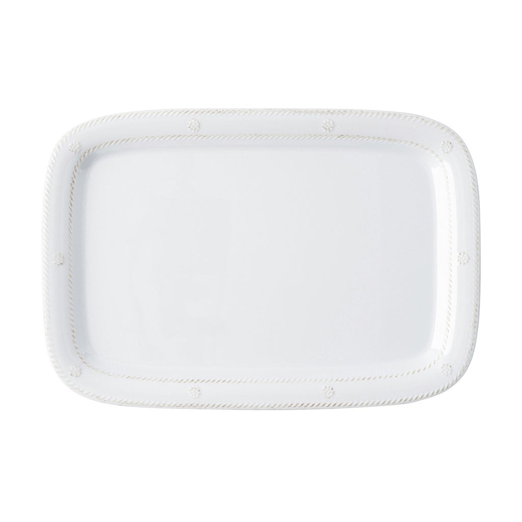 "Juliska Berry & Thread Melamine 16"" Tray & Platter, White"