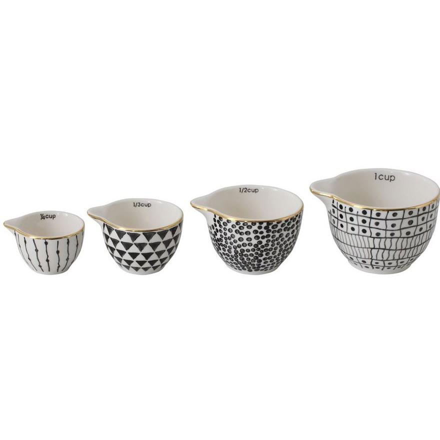Black & White Measuring Cup Set