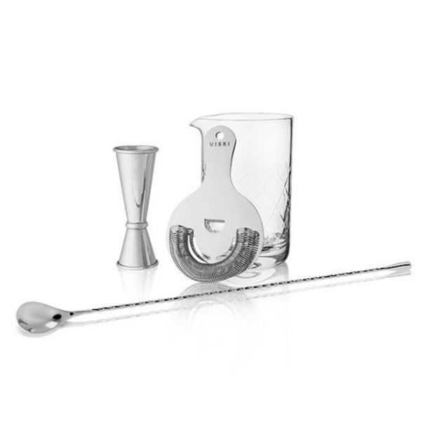 Stainless Steel Mixologist Barware Gift Set