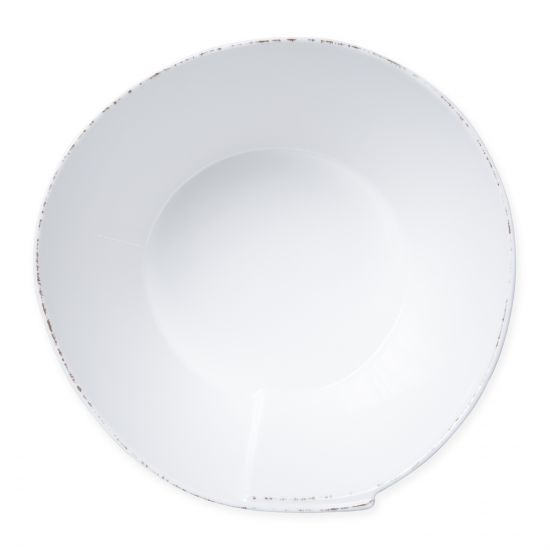 VIETRI Lastra Melamine White Large Stacking Serving Bowl