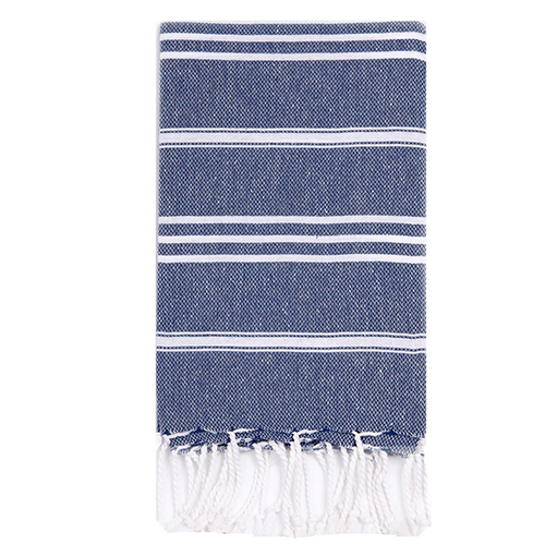 Turkish T Classic Hand Towel - Navy