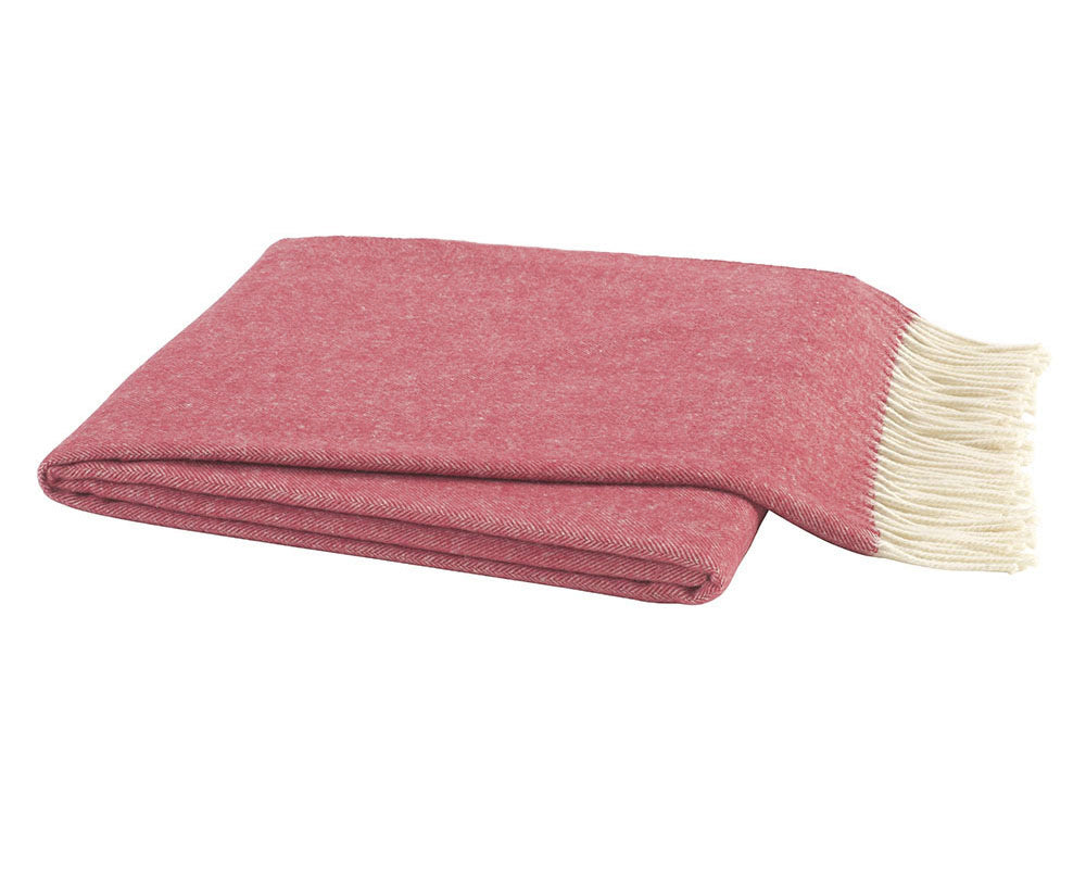 Tea Rose Italian Herringbone Throw