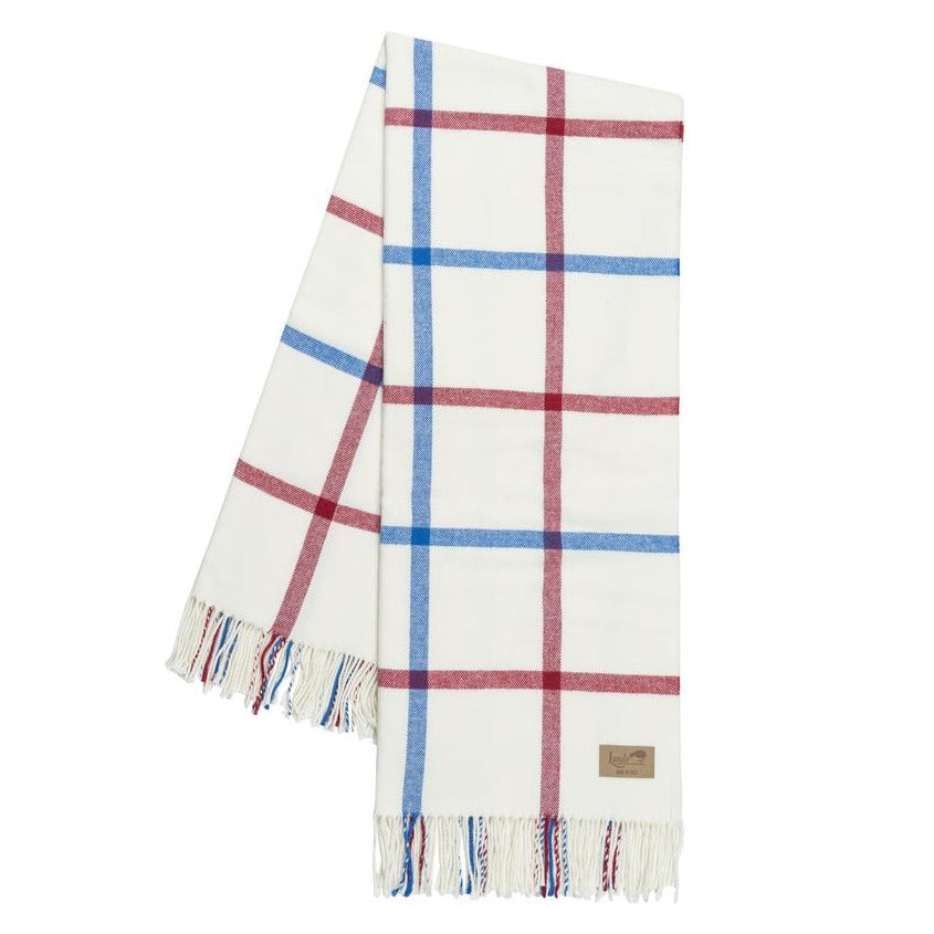 Red and Marina Tattersall Plaid Throw