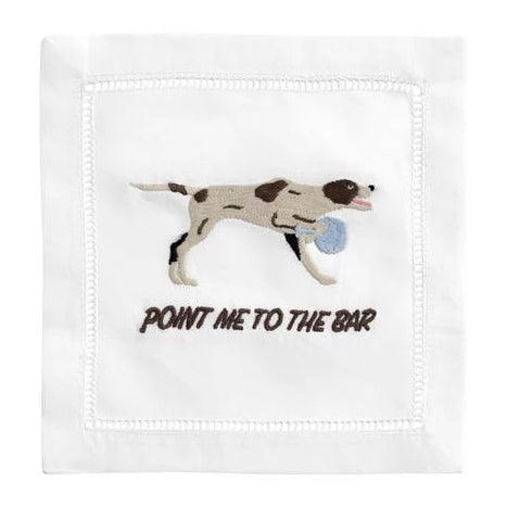 """Point Me To The Bar"" Cocktail Napkin Set"