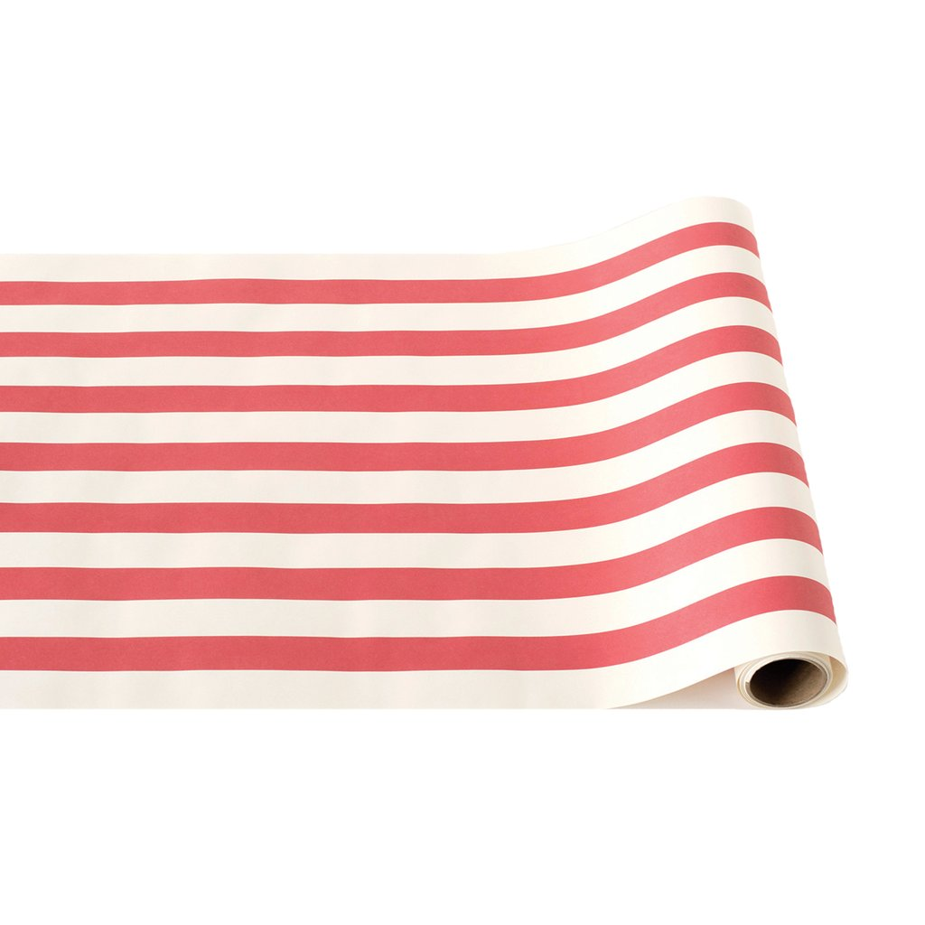 Red Classic Stripe Paper Table Runner