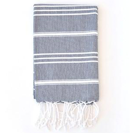 Turkish T Classic Hand Towel - Slate Gray