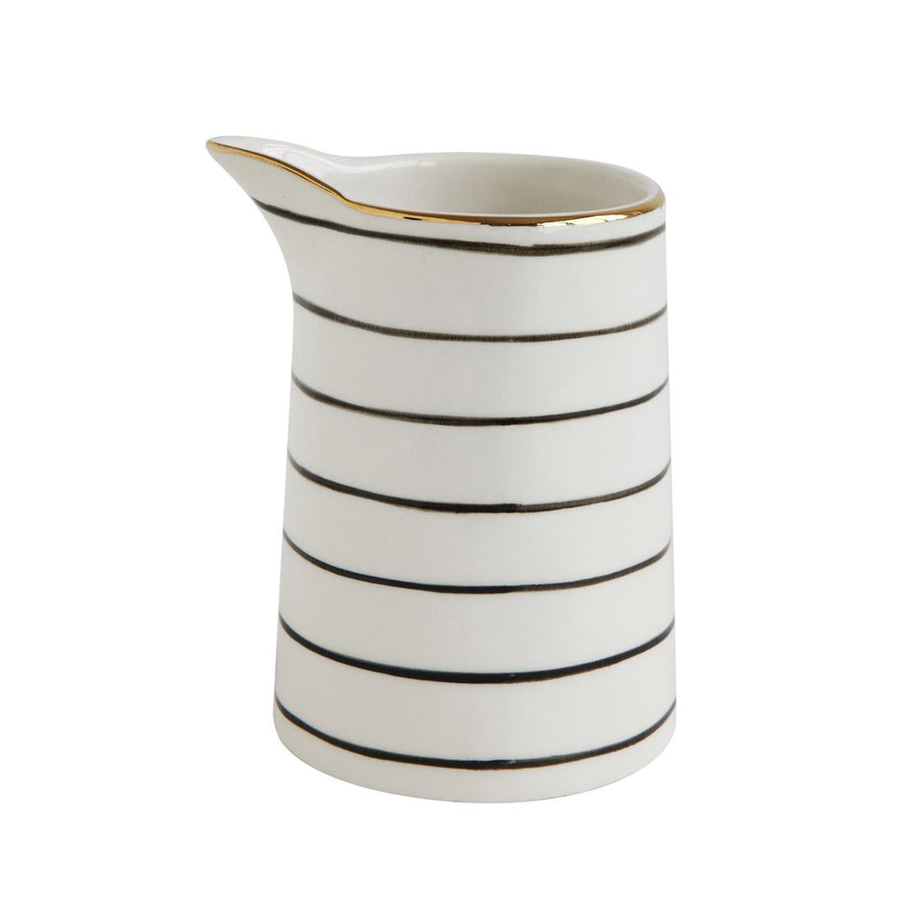 Striped Stoneware Mini Pitcher