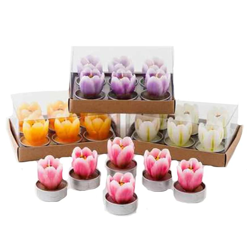 Tulip Tea Light, Set of 6