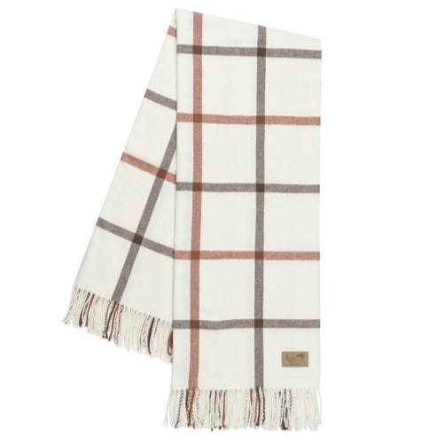 Cocoa and Copper Tattersall Plaid Throw