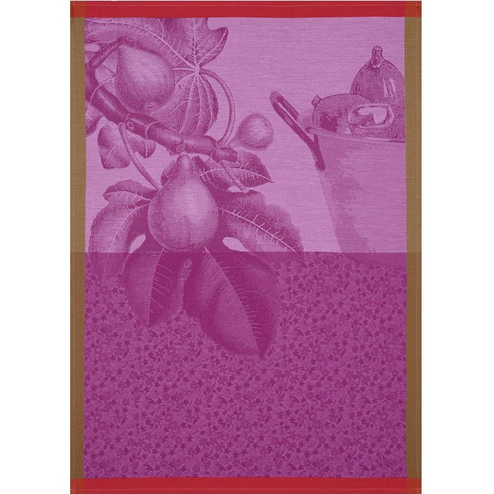 "Le Jacquard Francais ""Fruits du Verger"" Purple Kitchen Towel"