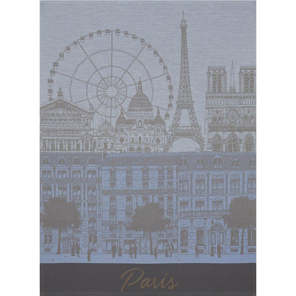 "Le Jacquard Francais ""Paris Panorama"" Azure Kitchen Towel"