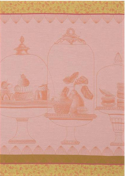 "Le Jacquard Francais ""Plaisirs Gourmands"" Peach Kitchen Towel"