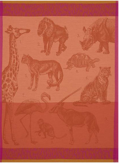 Le Jacquard Francais Safari Orange Tea Towel