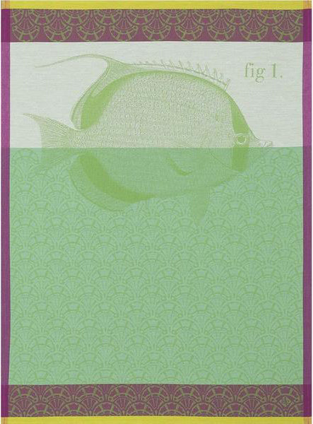 "Le Jacquard Francais ""Tahiti"" Green Kitchen Towel"
