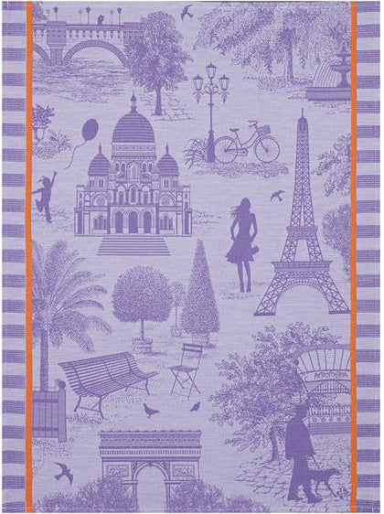 Le Jacquard Francais Paris Blackcurrant Tea Towel