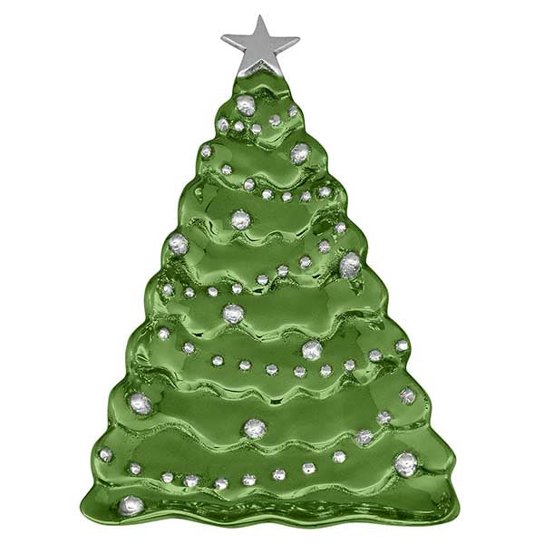 Mariposa Christmas Tree Server, Green
