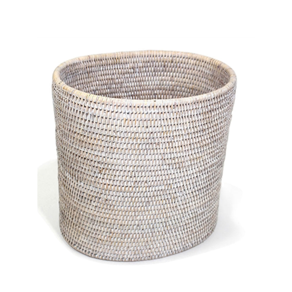 Oval Waste Basket White Wash