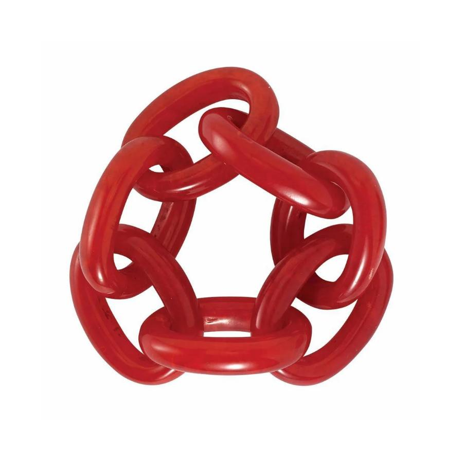 Red Chain Link Napkin Ring