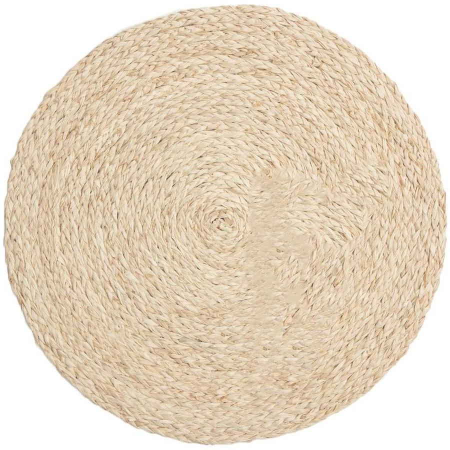 Zoey Bleached Round Raffia Placemat