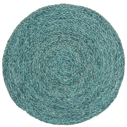 Zoey Mixed Blue Raffia Round Placemat