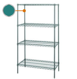 Quantum Green Epoxy Wire Shelving