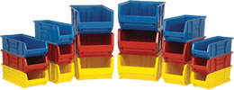 Quantum Large Plastic Rack and Shelf Storage Bins