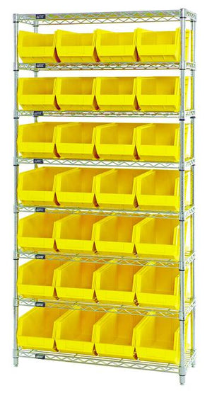 Quantum Chrome Shelving with Bins
