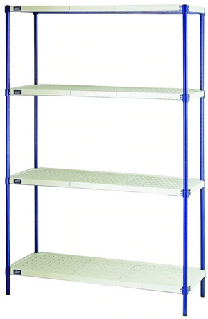 Quantum Convenient 1 Box Wire Plastic Mat Shelving Unit