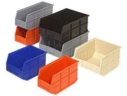 Quantum Plastic Stackable Shelf Bins