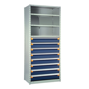 Rousseau Industrial Shelving With Drawers
