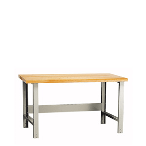 Rousseau Metal Basic Workbench with wood top