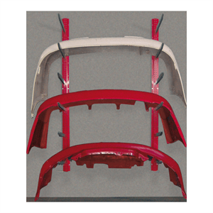 Rousseau Wall Mounted Bumper Cover Racks red
