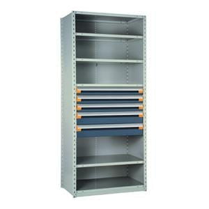 "Drawers in Shelving 36""W x 24""D x 87""H with 5 Drawers, R5SEE-872401"