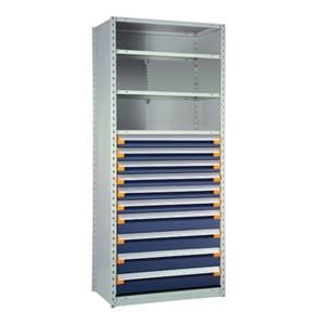 Rousseau Blue Drawers and Shelving Unit R5See-874805